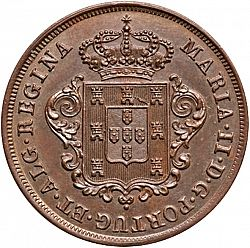 Large Obverse for 5 Réis 1850 coin