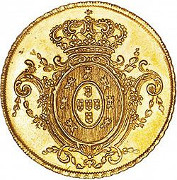 Large Reverse for 6400 Réis ( Peça ) 1809 coin