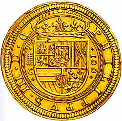 Large Obverse for 100 Escudos 1609 coin