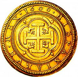 Large Reverse for 100 Escudos 1609 coin