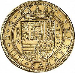 Large Obverse for 100 Escudos 1633 coin