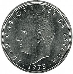 Large Obverse for 100 Pesetas 1975 coin