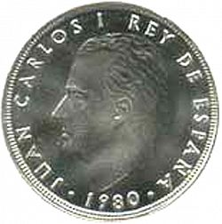 Large Obverse for 100 Pesetas 1980 coin