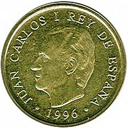 Large Obverse for 100 Pesetas 1996 coin