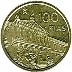 Large Reverse for 100 Pesetas 1996 coin