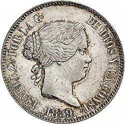 Large Obverse for 10 Reales 1859 coin
