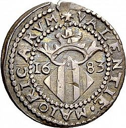 Large Reverse for Dieciocheno 1683 coin