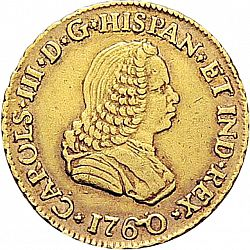 Large Obverse for 1 Escudo 1760 coin