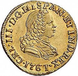 Large Obverse for 1 Escudo 1761 coin