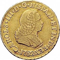 Large Obverse for 1 Escudo 1762 coin