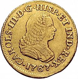 Large Obverse for 1 Escudo 1767 coin