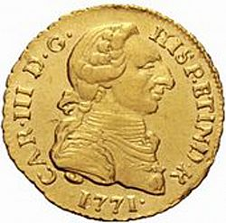 Large Obverse for 1 Escudo 1771 coin