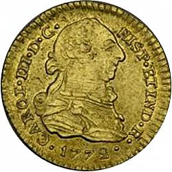 Large Obverse for 1 Escudo 1772 coin