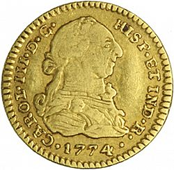 Large Obverse for 1 Escudo 1774 coin