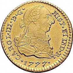Large Obverse for 1 Escudo 1777 coin
