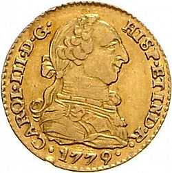 Large Obverse for 1 Escudo 1779 coin