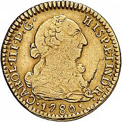 Large Obverse for 1 Escudo 1780 coin