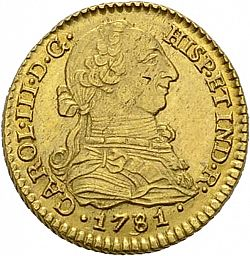 Large Obverse for 1 Escudo 1781 coin