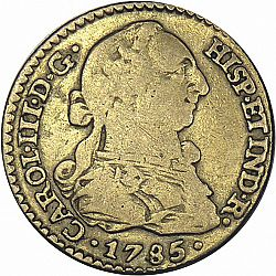 Large Obverse for 1 Escudo 1785 coin