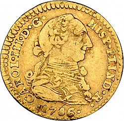 Large Obverse for 1 Escudo 1786 coin