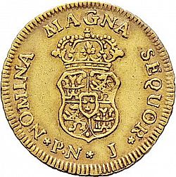 Large Reverse for 1 Escudo 1760 coin