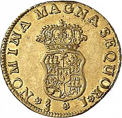 Large Reverse for 1 Escudo 1761 coin
