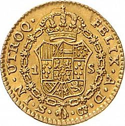 Large Reverse for 1 Escudo 1779 coin