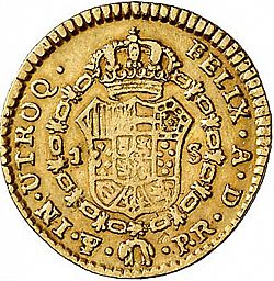 Large Reverse for 1 Escudo 1780 coin