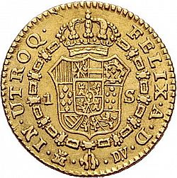 Large Reverse for 1 Escudo 1787 coin