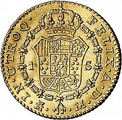 Large Reverse for 1 Escudo 1788 coin