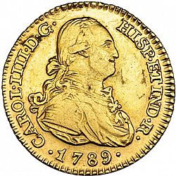 Large Obverse for 1 Escudo 1789 coin