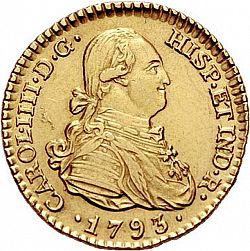 Large Obverse for 1 Escudo 1793 coin