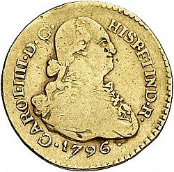 Large Obverse for 1 Escudo 1796 coin