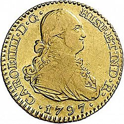 Large Obverse for 1 Escudo 1797 coin