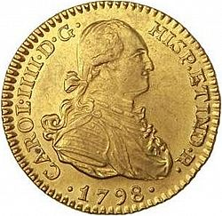 Large Obverse for 1 Escudo 1798 coin