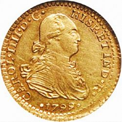 Large Obverse for 1 Escudo 1799 coin
