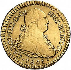 Large Obverse for 1 Escudo 1801 coin