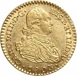 Large Obverse for 1 Escudo 1803 coin