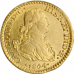 Large Obverse for 1 Escudo 1804 coin