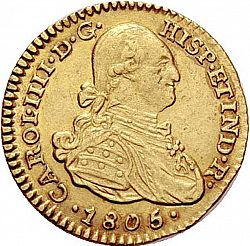 Large Obverse for 1 Escudo 1805 coin