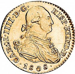 Large Obverse for 1 Escudo 1808 coin