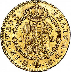 Large Reverse for 1 Escudo 1789 coin