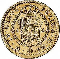 Large Reverse for 1 Escudo 1790 coin