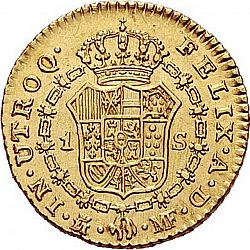 Large Reverse for 1 Escudo 1793 coin