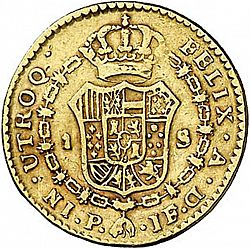 Large Reverse for 1 Escudo 1796 coin
