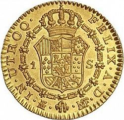 Large Reverse for 1 Escudo 1798 coin