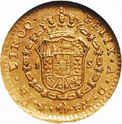 Large Reverse for 1 Escudo 1799 coin