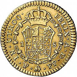 Large Reverse for 1 Escudo 1801 coin