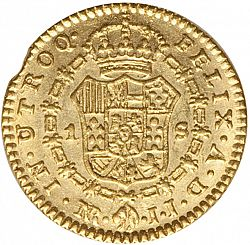 Large Reverse for 1 Escudo 1803 coin