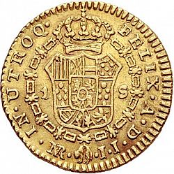 Large Reverse for 1 Escudo 1805 coin